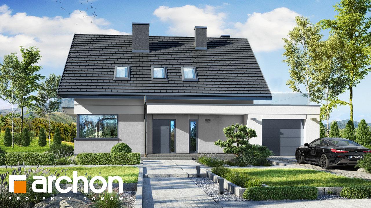 Проект будинку ARCHON+ Будинок в гісопах додаткова візуалізація