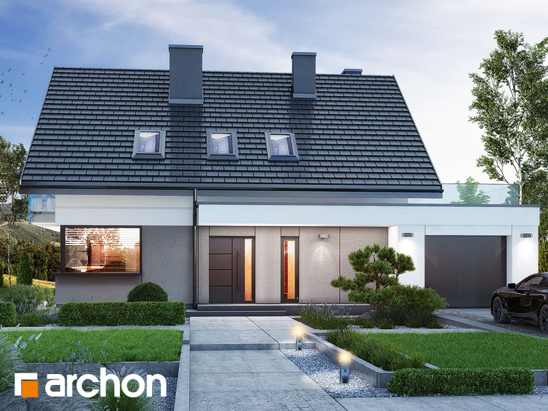 Проект будинку ARCHON+ Будинок в гісопах Вид 1