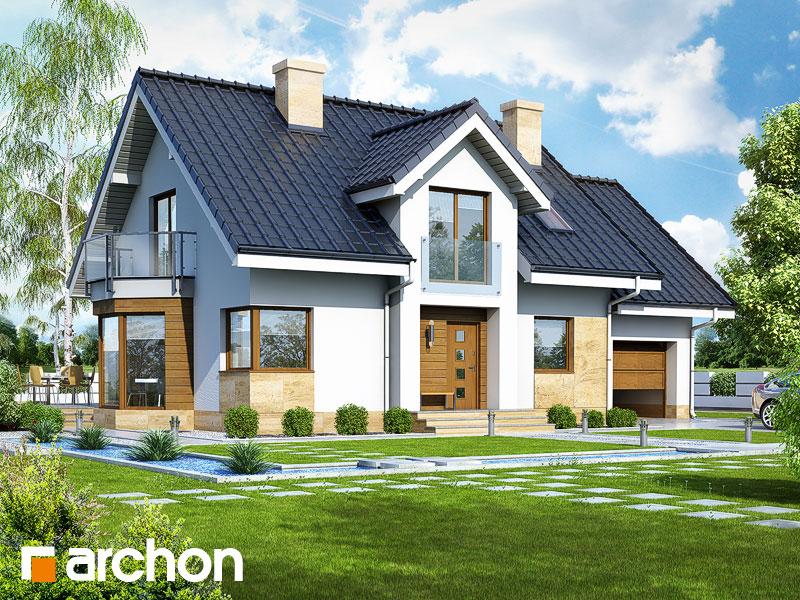 Проект будинку ARCHON+ Будинок в рододендронах 6 (A) Вид 1