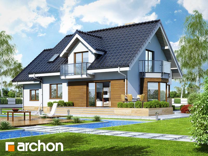 Проект будинку ARCHON+ Будинок в рододендронах 6 (A) Вид 2