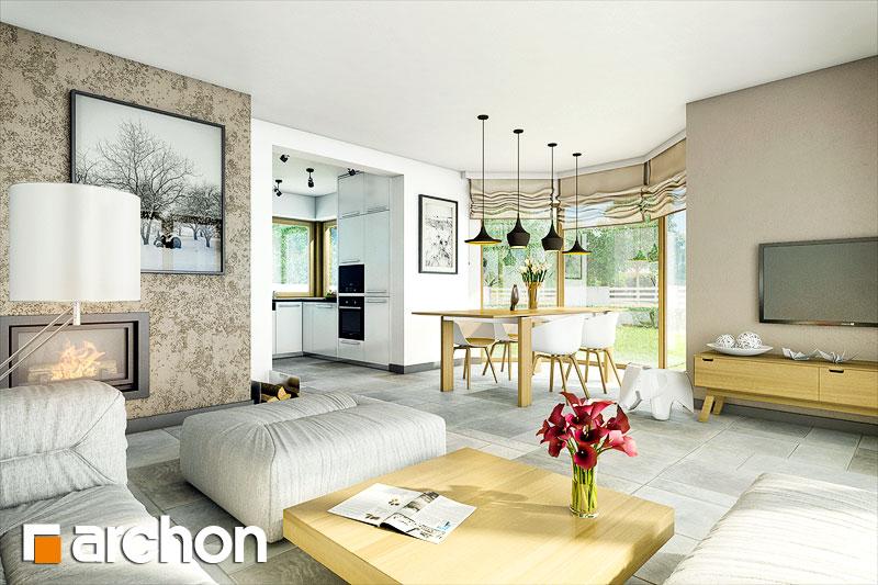 Проект будинку ARCHON+ Будинок в рододендронах 6 (A) денна зона (візуалізація 1 від 1)