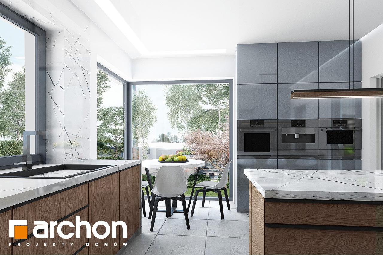 Проект дома ARCHON+ Дом в кливиях 9 (Г2) визуализация кухни 1 вид 1