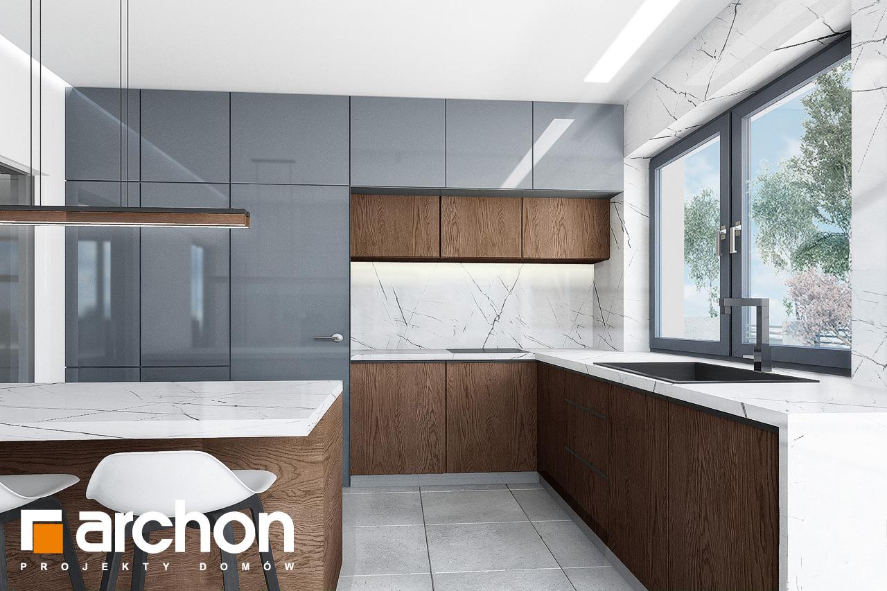 Проект дома ARCHON+ Дом в кливиях 9 (Г2) визуализация кухни 1 вид 2