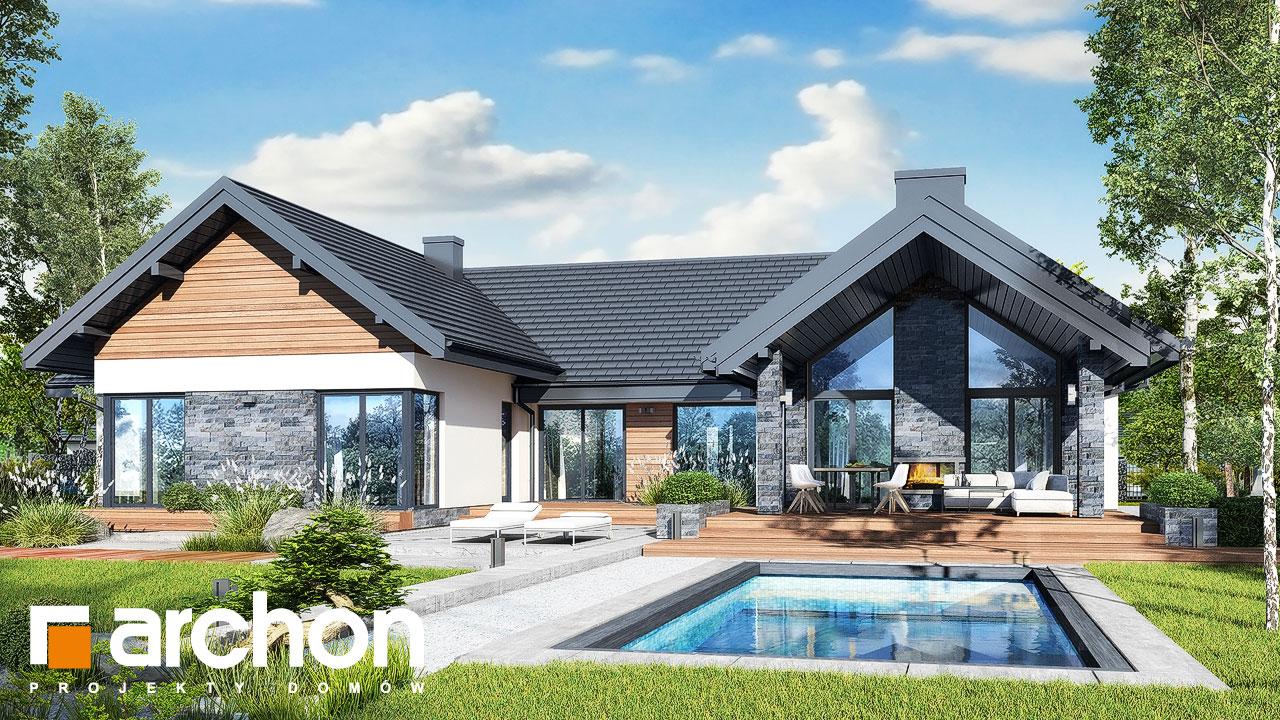 Проект дома ARCHON+ Дом в кливиях 9 (Г2) Вид 2