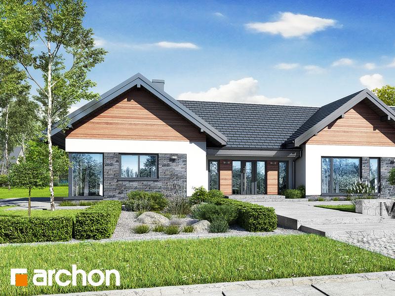 Проект дома ARCHON+ Дом в кливиях 9 (Г2) Вид 1