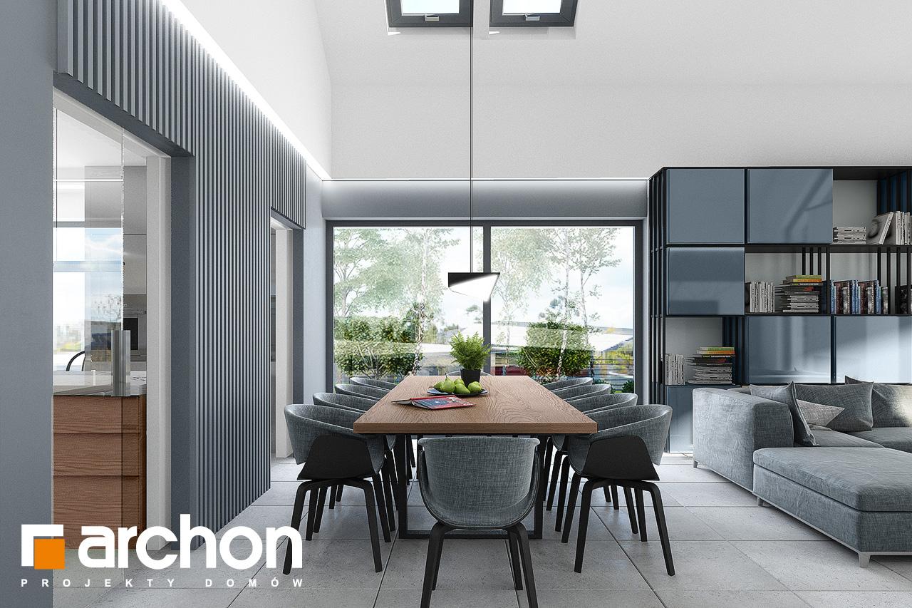 Проект дома ARCHON+ Дом в кливиях 9 (Г2) дневная зона (визуализация 1 вид 3)