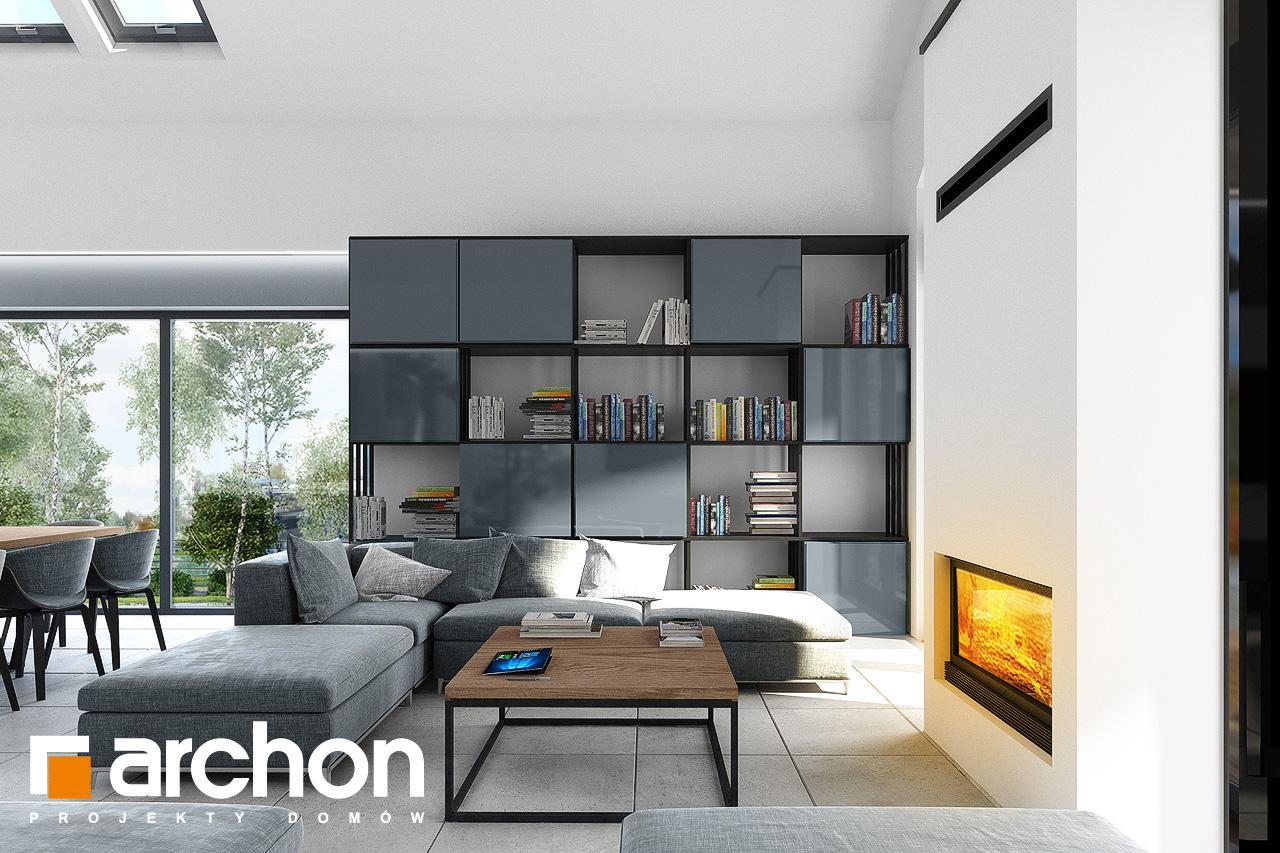 Проект дома ARCHON+ Дом в кливиях 9 (Г2) дневная зона (визуализация 1 вид 2)
