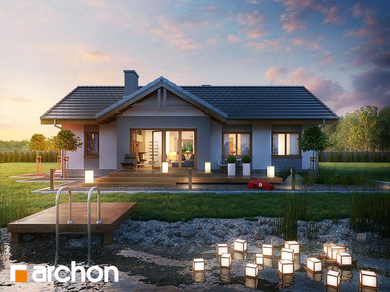 Проект будинку ARCHON+ Будинок в нерінах додаткова візуалізація