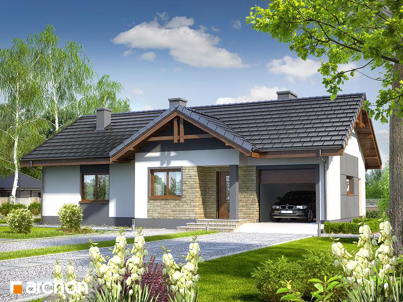Проект будинку ARCHON+ Будинок в нерінах стилізація 5