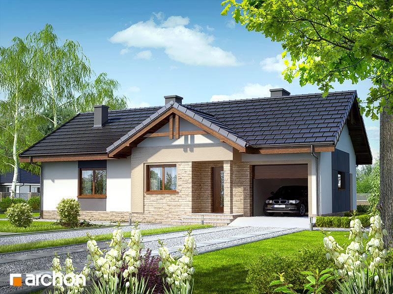 Проект будинку ARCHON+ Будинок в нерінах стилізація 6