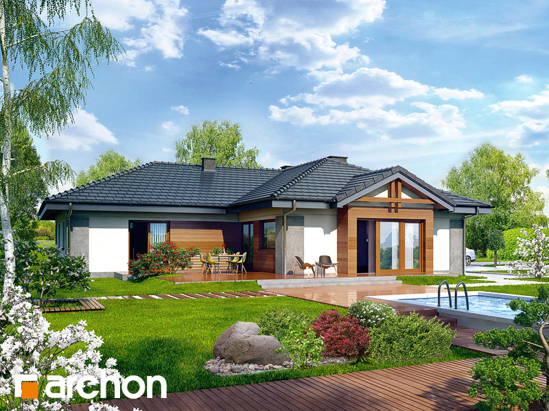 Проект дома ARCHON+ Дом в бадане 2 Вид 2
