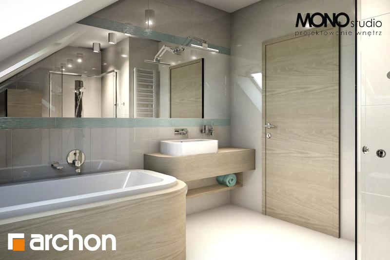 Проект будинку ARCHON+ Будинок в тим'яні 6 візуалізація ванни (візуалізація 3 від 4)