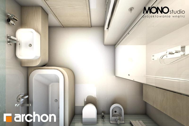 Проект будинку ARCHON+ Будинок в тим'яні 6 візуалізація ванни (візуалізація 3 від 5)