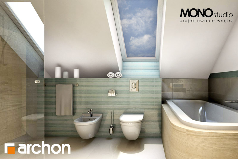 Проект дома ARCHON+ Дом в тимьяне 6 визуализация ванной (визуализация 3 вид 1)