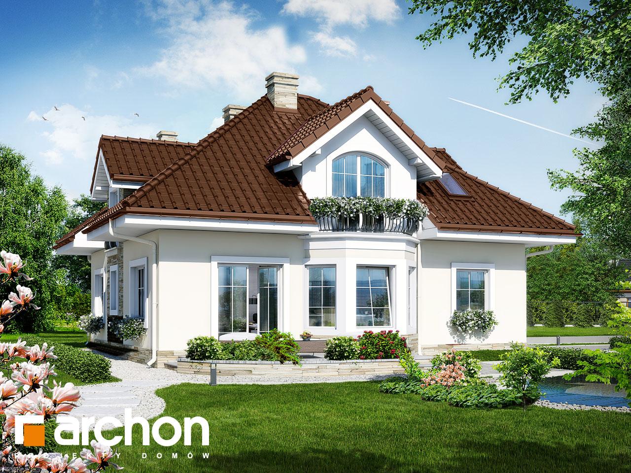 Проект будинку ARCHON+ Будинок в тим'яні 6 Вид 2
