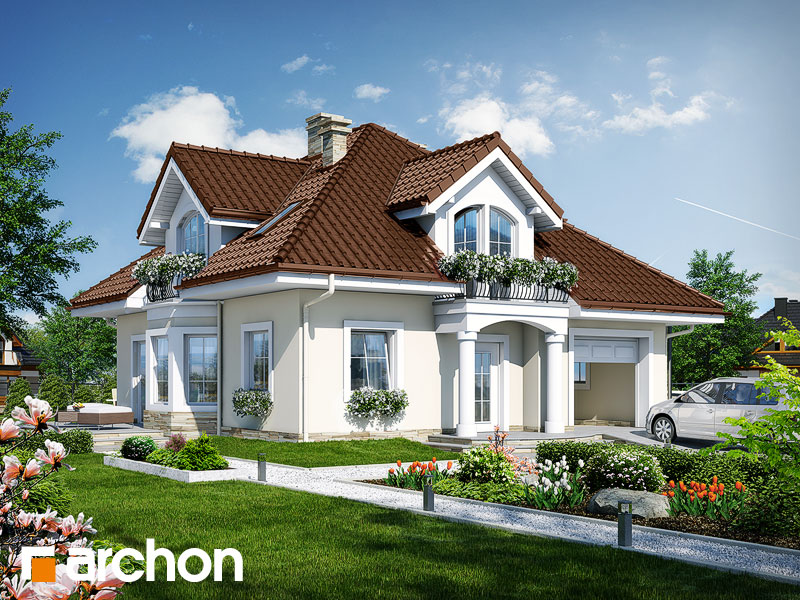 Проект дома ARCHON+ Дом в тимьяне 6 Вид 1