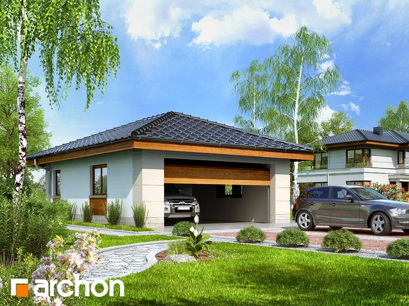 Проект дома ARCHON+ Г18 - Двухместный гараж Вид 1