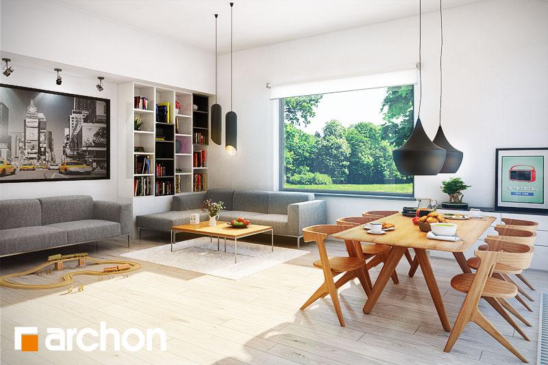 Проект будинку ARCHON+ Будинок в бонсай денна зона (візуалізація 1 від 2)