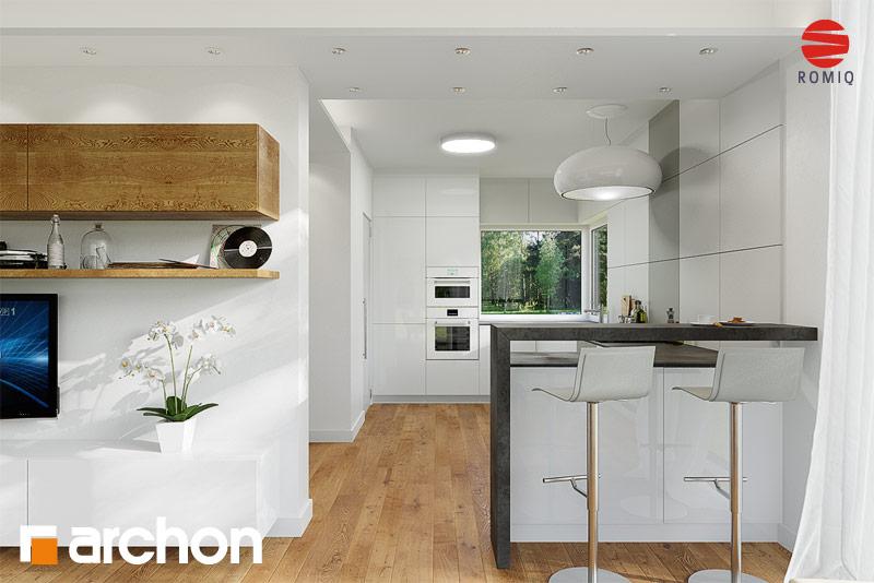 Проект будинку ARCHON+ Будинок в мекінтоші аранжування кухні 1 від 2
