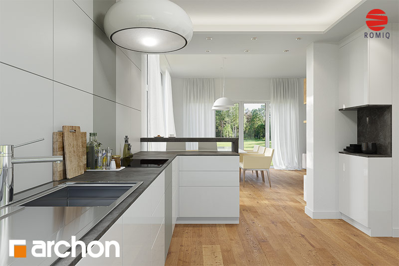 Проект будинку ARCHON+ Будинок в мекінтоші аранжування кухні 1 від 3