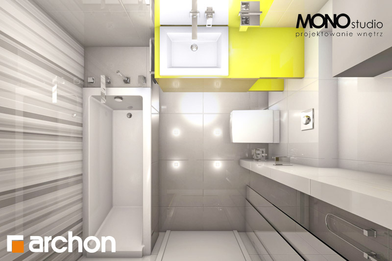 Проект будинку ARCHON+ Будинок в мекінтоші візуалізація ванни (візуалізація 1 від 5)