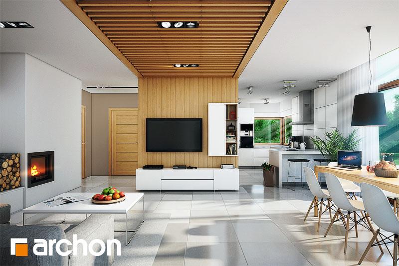 Проект будинку ARCHON+ Будинок в мекінтоші денна зона (візуалізація 1 від 1)