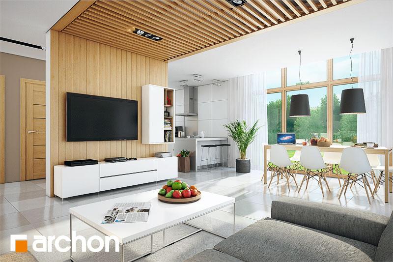 Проект будинку ARCHON+ Будинок в мекінтоші денна зона (візуалізація 1 від 2)