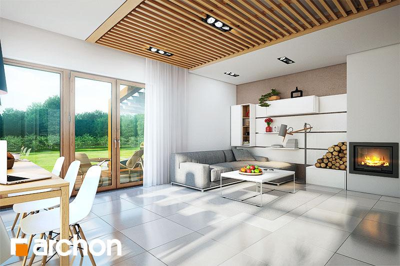 Проект будинку ARCHON+ Будинок в мекінтоші денна зона (візуалізація 1 від 3)