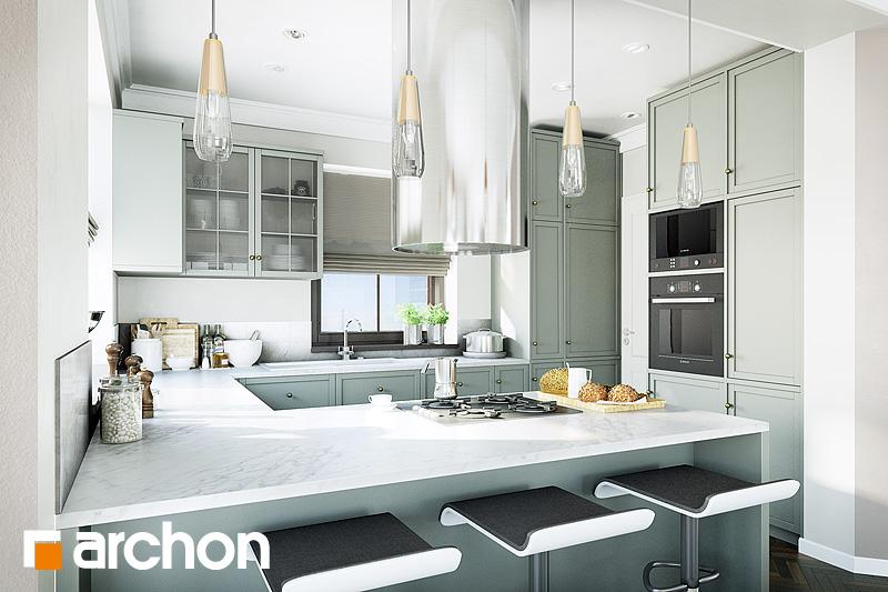 Проект будинку ARCHON+ Будинок в руколі 2 візуалізація кухні 1 від 1
