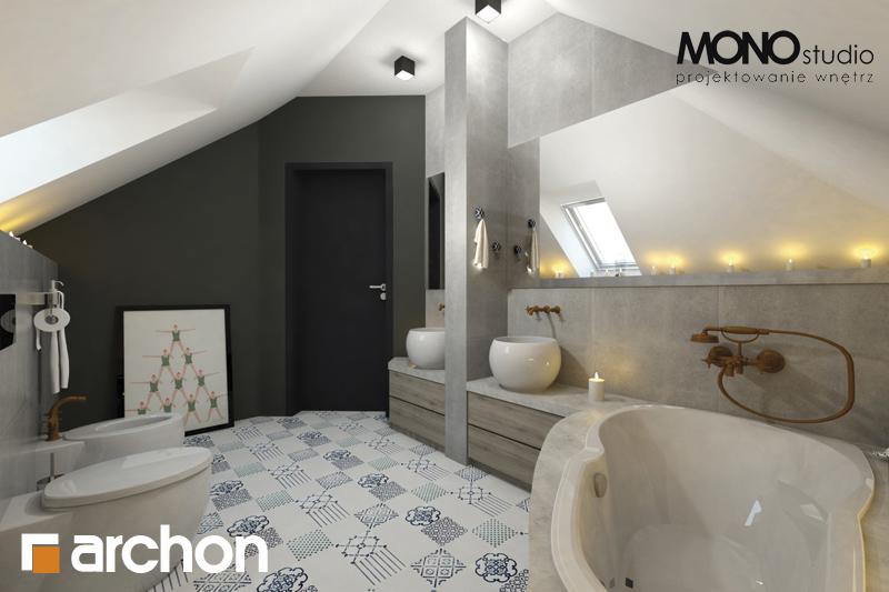 Проект будинку ARCHON+ Будинок в руколі 2 візуалізація ванни (візуалізація 1 від 2)