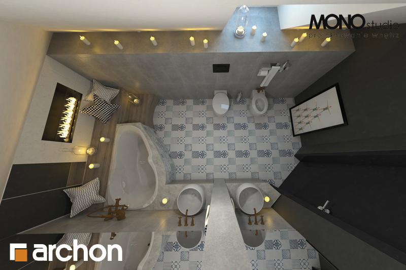 Проект будинку ARCHON+ Будинок в руколі 2 візуалізація ванни (візуалізація 1 від 4)