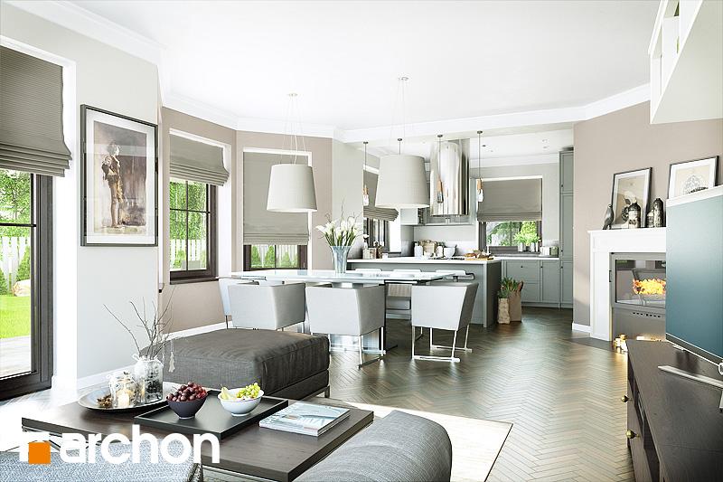 Проект будинку ARCHON+ Будинок в руколі 2 денна зона (візуалізація 1 від 1)