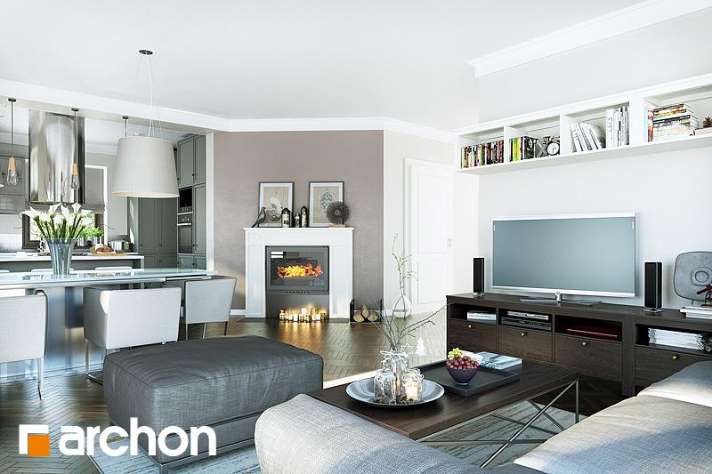 Проект будинку ARCHON+ Будинок в руколі 2 денна зона (візуалізація 1 від 2)