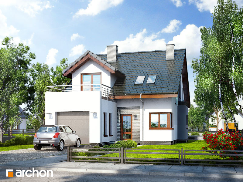 Проект будинку ARCHON+ Будинок в чилі  стилізація 6