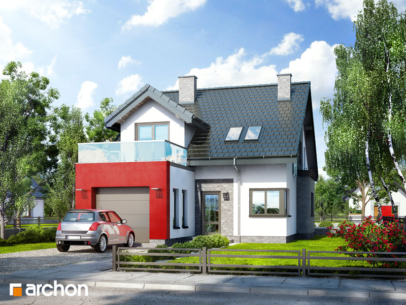 Проект будинку ARCHON+ Будинок в чилі  стилізація 3
