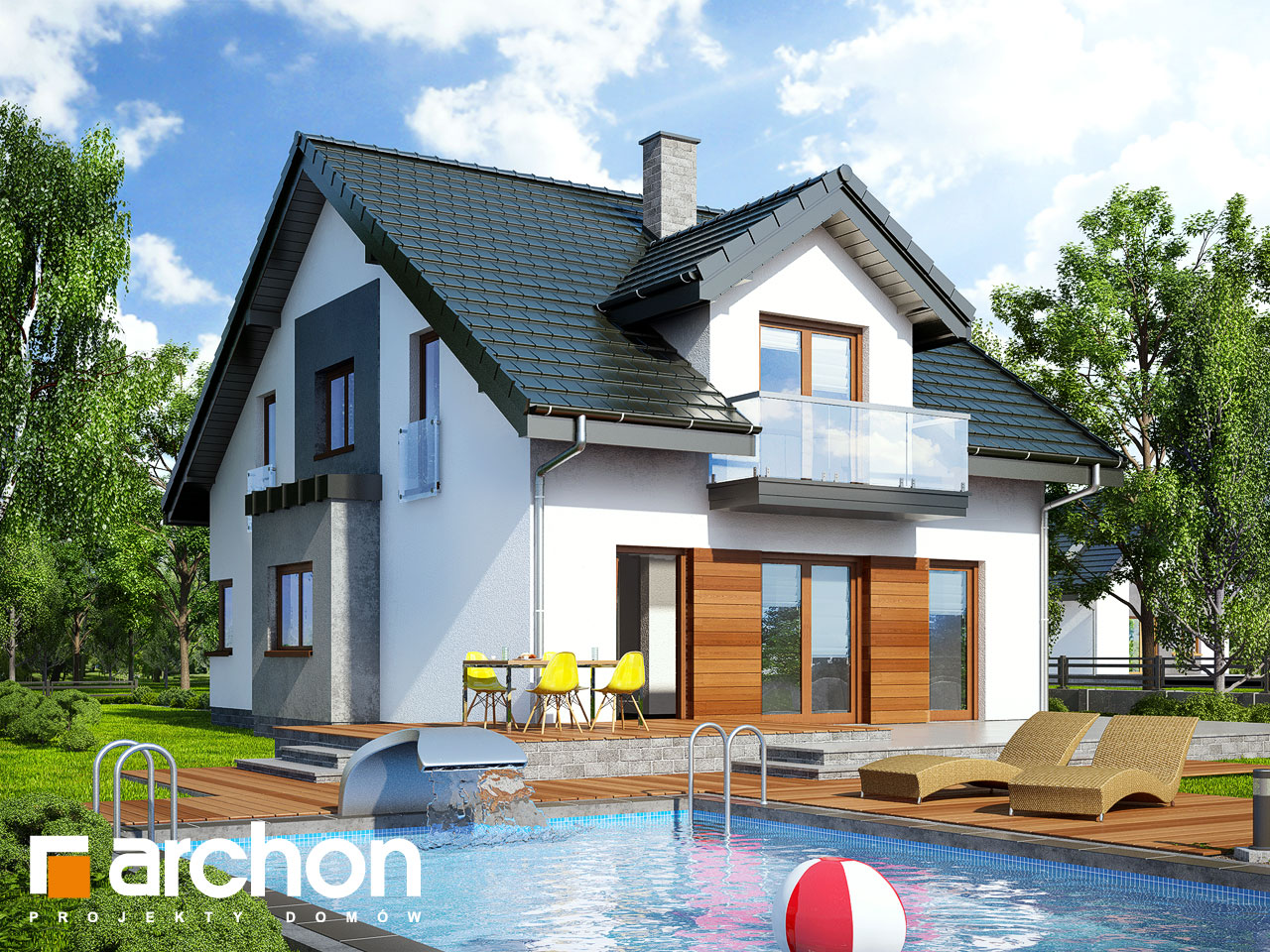 Проект будинку ARCHON+ Будинок в чилі  Вид 2