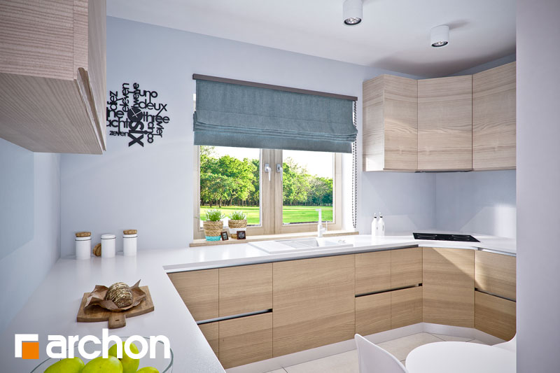 Проект будинку ARCHON+ Будинок в люцерні 4 візуалізація кухні 1 від 1