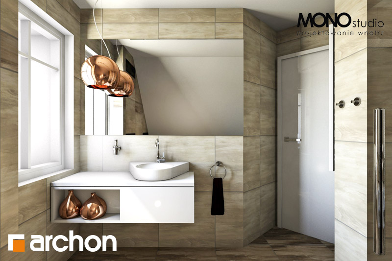 Проект будинку ARCHON+ Будинок в люцерні 4 візуалізація ванни (візуалізація 3 від 1)