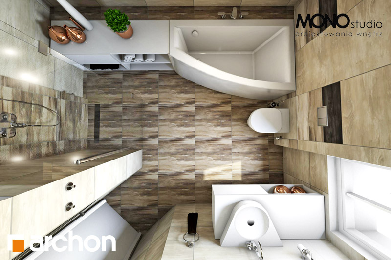 Проект будинку ARCHON+ Будинок в люцерні 4 візуалізація ванни (візуалізація 3 від 4)