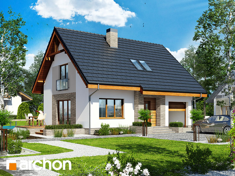Проект дома ARCHON+ Дом в люцерне 4 Вид 1