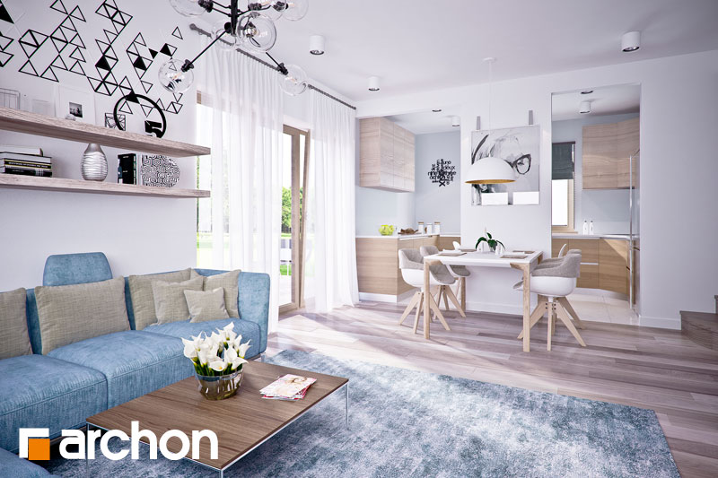 Проект будинку ARCHON+ Будинок в люцерні 4 денна зона (візуалізація 1 від 1)