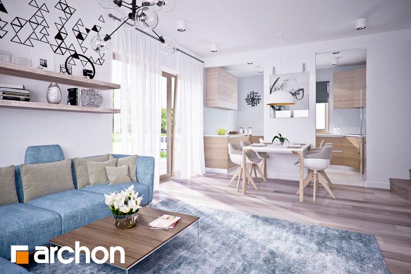 Проект дома ARCHON+ Дом в люцерне 4 дневная зона (визуализация 1 вид 1)