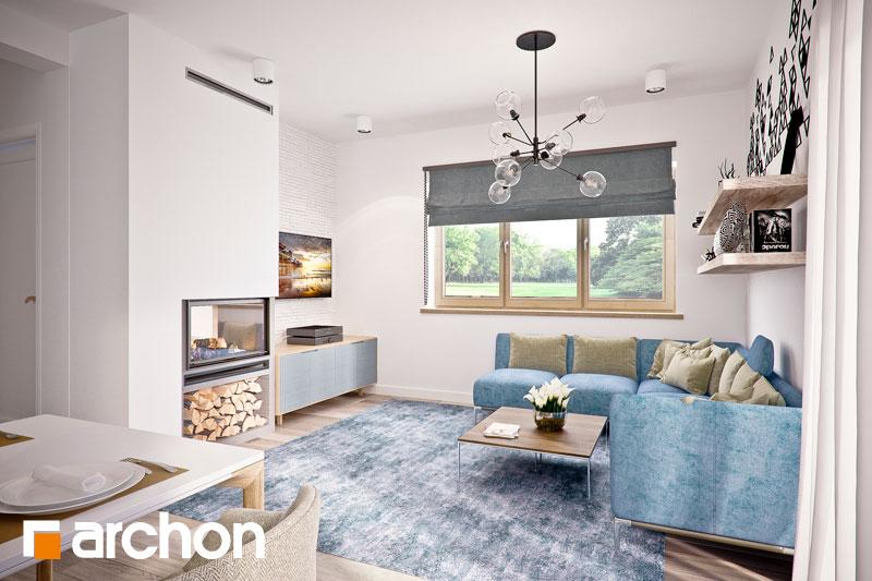 Проект дома ARCHON+ Дом в люцерне 4 дневная зона (визуализация 1 вид 2)