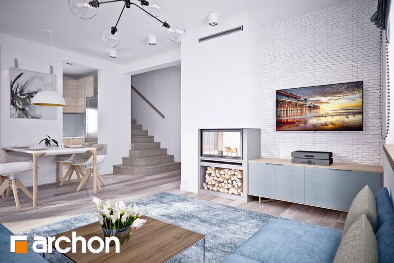 Проект дома ARCHON+ Дом в люцерне 4 дневная зона (визуализация 1 вид 3)