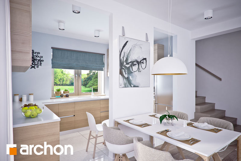 Проект дома ARCHON+ Дом в люцерне 4 дневная зона (визуализация 1 вид 5)