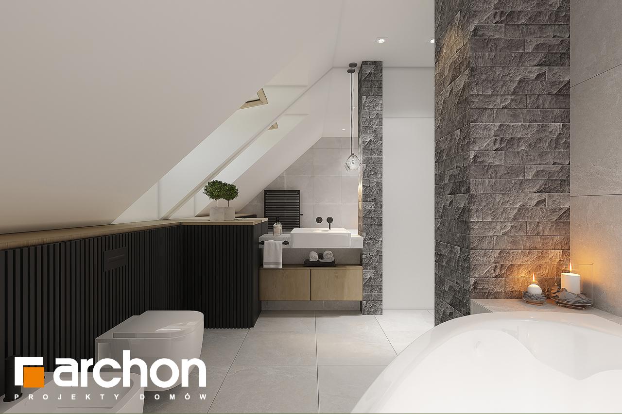 Проект будинку ARCHON+ Будинок в рододендронах 11 (H) візуалізація ванни (візуалізація 3 від 1)