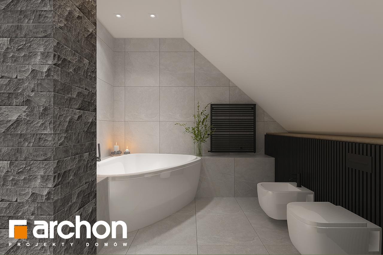 Проект будинку ARCHON+ Будинок в рододендронах 11 (H) візуалізація ванни (візуалізація 3 від 2)