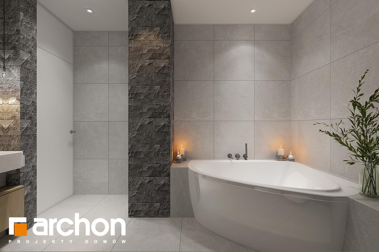 Проект дома ARCHON+ Дом в рододендронах 11 (H) визуализация ванной (визуализация 3 вид 3)