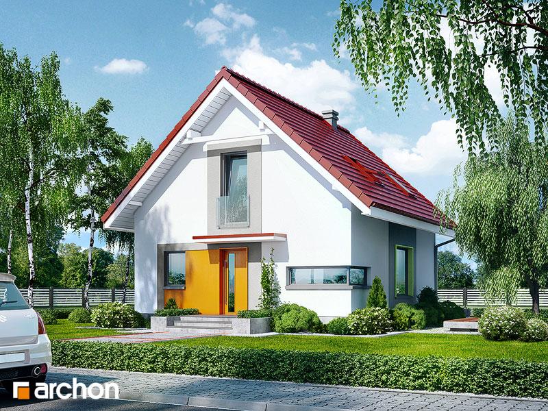 Проект будинку ARCHON+ Будинок в рододендронах 11 (H) стилізація 3