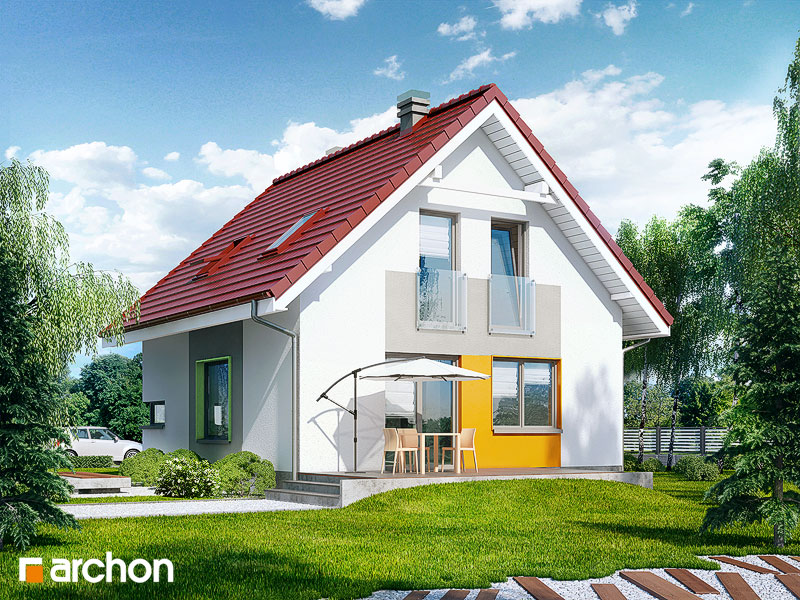Проект дома ARCHON+ Дом в рододендронах 11 (H) стилизация 4